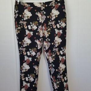 Cynthia Rowley   Black & White   Floral   Slacks